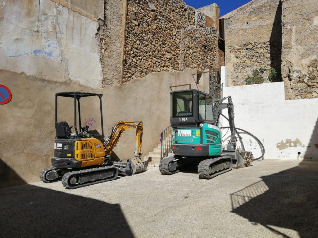 Maquinaria de construcción en Cuenca